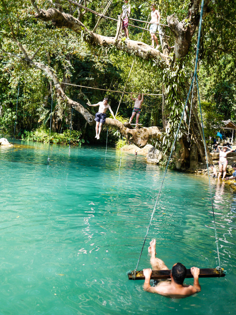 the blue lagoon vang vieng, laos