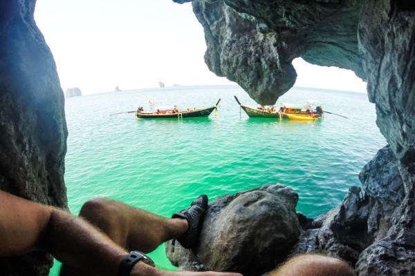 deep water solo climbing tonsai