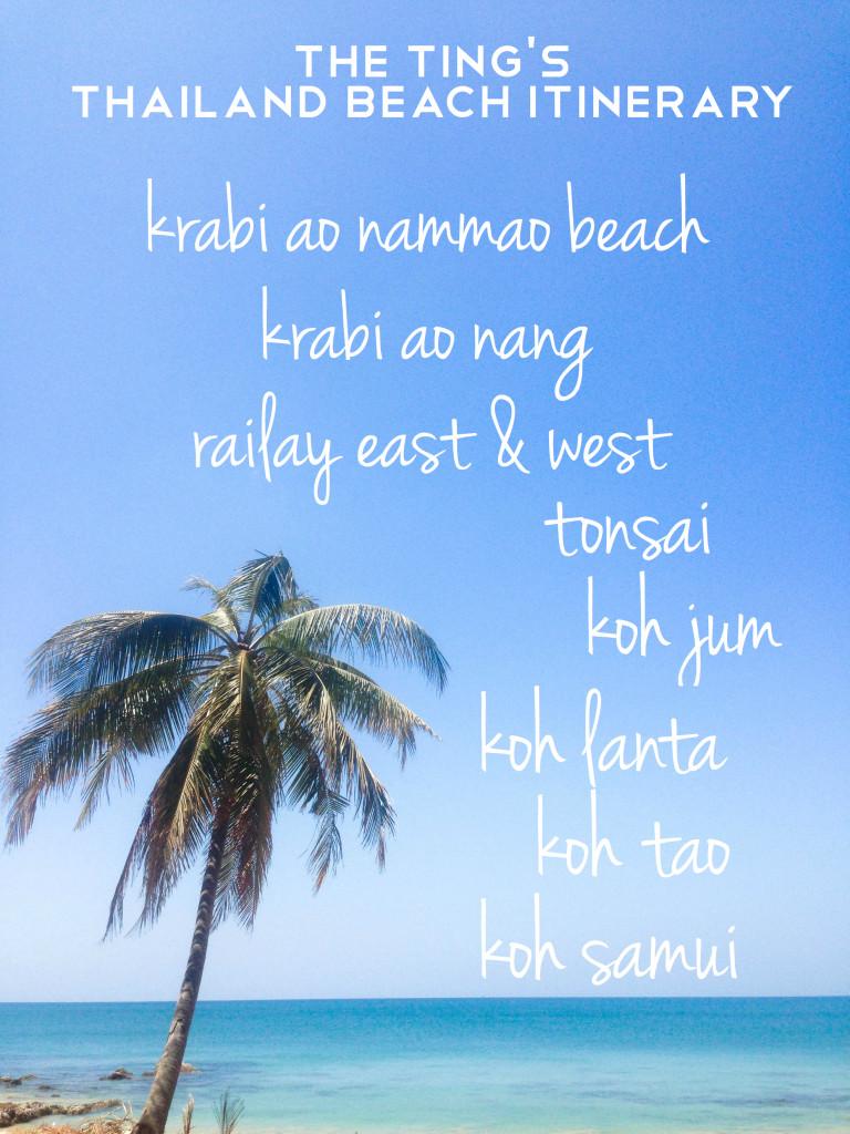 thailand beach vacation itinerary