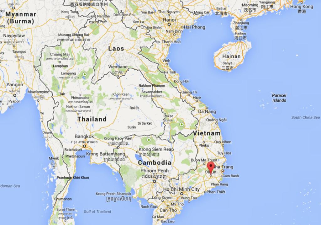 map of dalat, vietnam