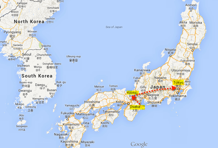 japan travel route