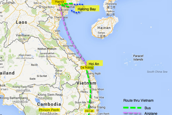 travel vietnam route itinerary