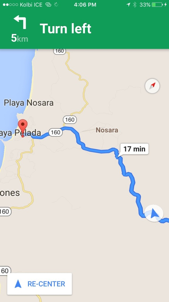 driving from manuel antonio to nosara
